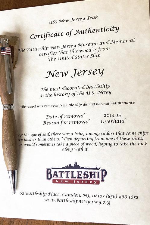 USS New Jersey Slimline pen
