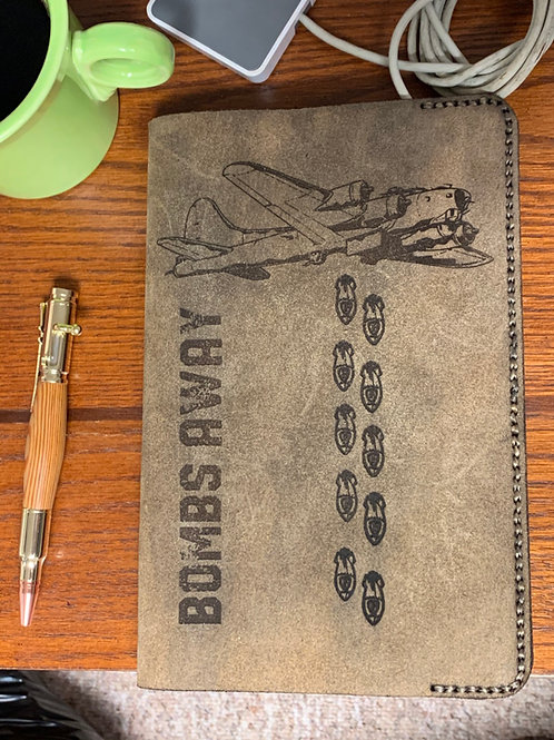 Leather Journal Cover - Bombs Away
