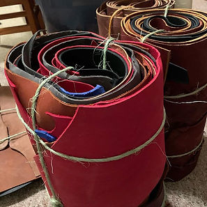 We got whole rolls of leather scraps....