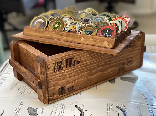 Russian-Style 7.62 Ammo-Crate Challenge Coin Box