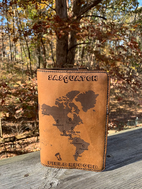 Leather Journal Cover - Sasquatch
