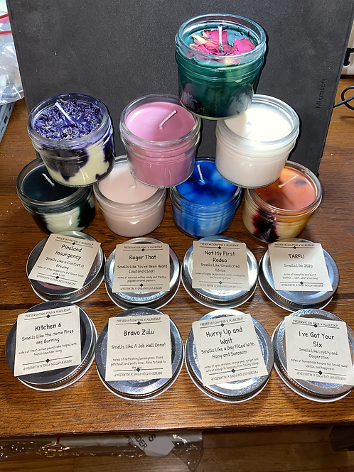 4oz. Military Themed Soy Candles