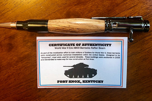 Fort Knox WWII Barracks Bolt Action