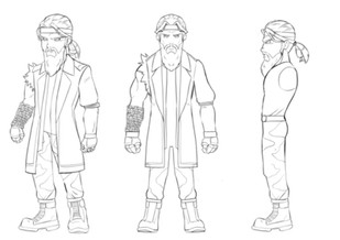 Early Concept Art for the Character Aladdin Oda from one of our future games.
