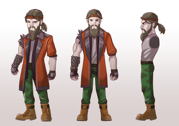 Early Concept Art for the Character Aladdin Oda from one of our future games. (Color)