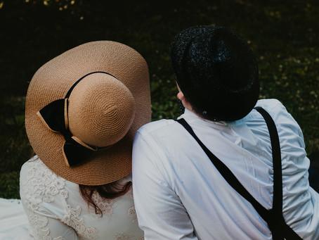 Garden Picnic Engagement Session   Midwest Wedding & Lifestyle Photographer