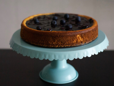 Cottage Cheese Cake with Blueberries
