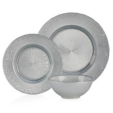 Silver Sparkle Plates