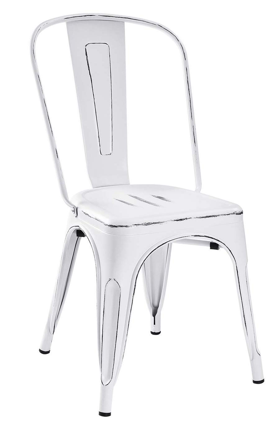 Metal Chair - White