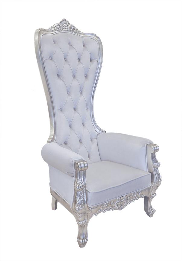 Throne Chair Snow White & Silver