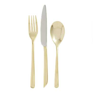 Gold & Stainless Flatware