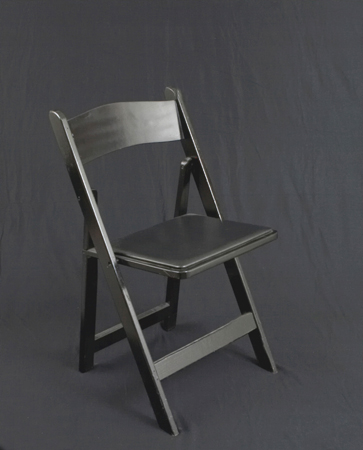 Gray Folding Chair - Wood