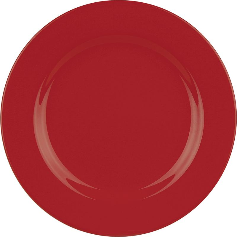 RED DINNER PLATE