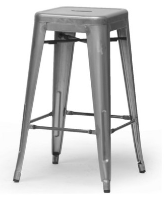 Bar Stool - Gun Metal