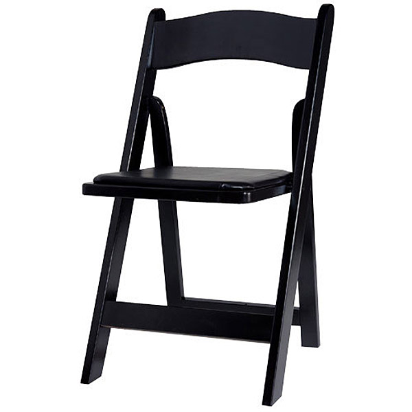 Black Folding Chair - Wood