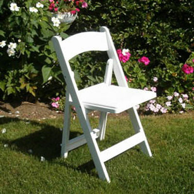 White Folding Chair - Wood