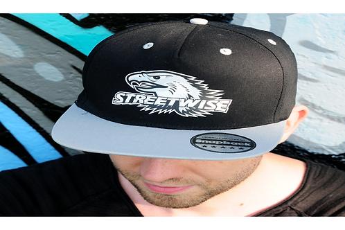 STREETWISE LOGO BLACK & GREY SNAPBACK CAP