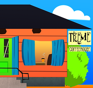 Treme Coffeehouse Digital Illustration