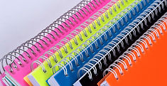 Colored binders used for outdoor program development