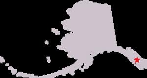 Map of Alaska, showing village of Kake