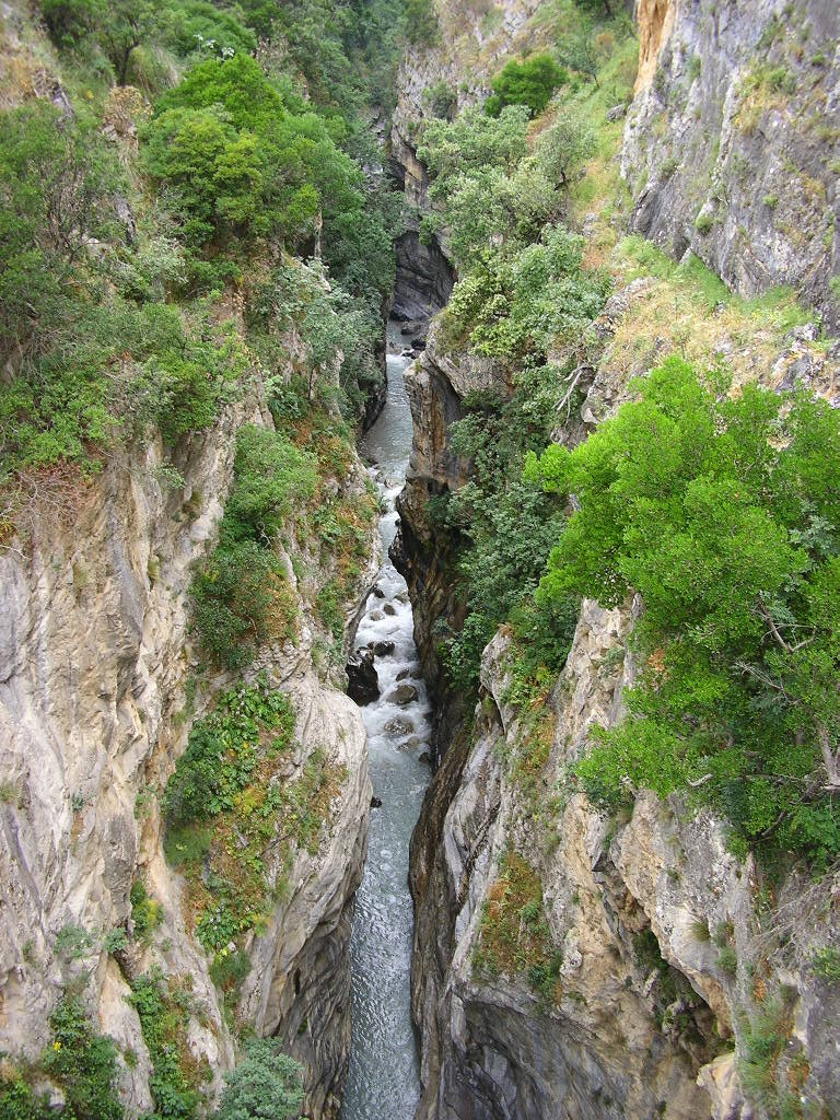 Raganello Gorge in Pollino National Park, Calabria Italy, a spot where outdoor safety and risk management incidents have occurred.