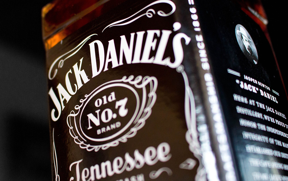 A bottle of Jack Daniel's whiskey, a wilderness and outdoor safety issue