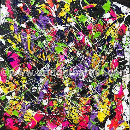 Amygdala, the brain Series, abstract expressionist fine art by Bridget B.