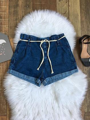 Short jeans amarração
