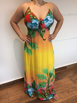 Vestido Havaí Amarelo