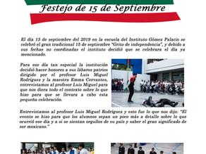 Festejo por el día de la Independencia Mexicana