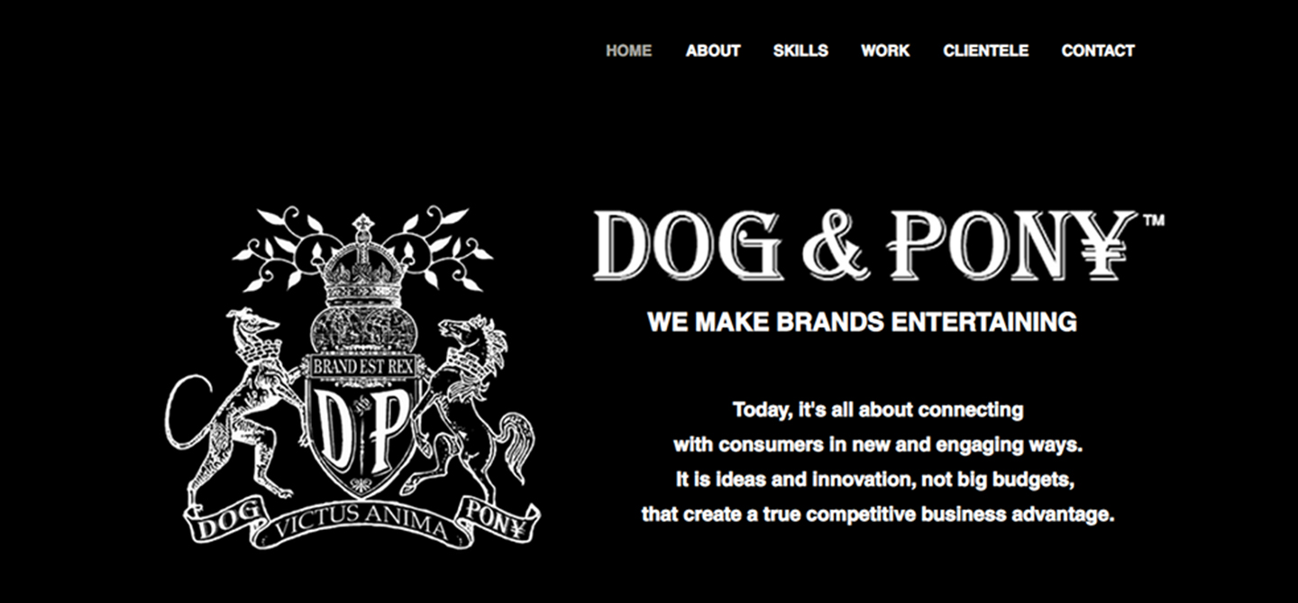 Dog and Pony Website Design