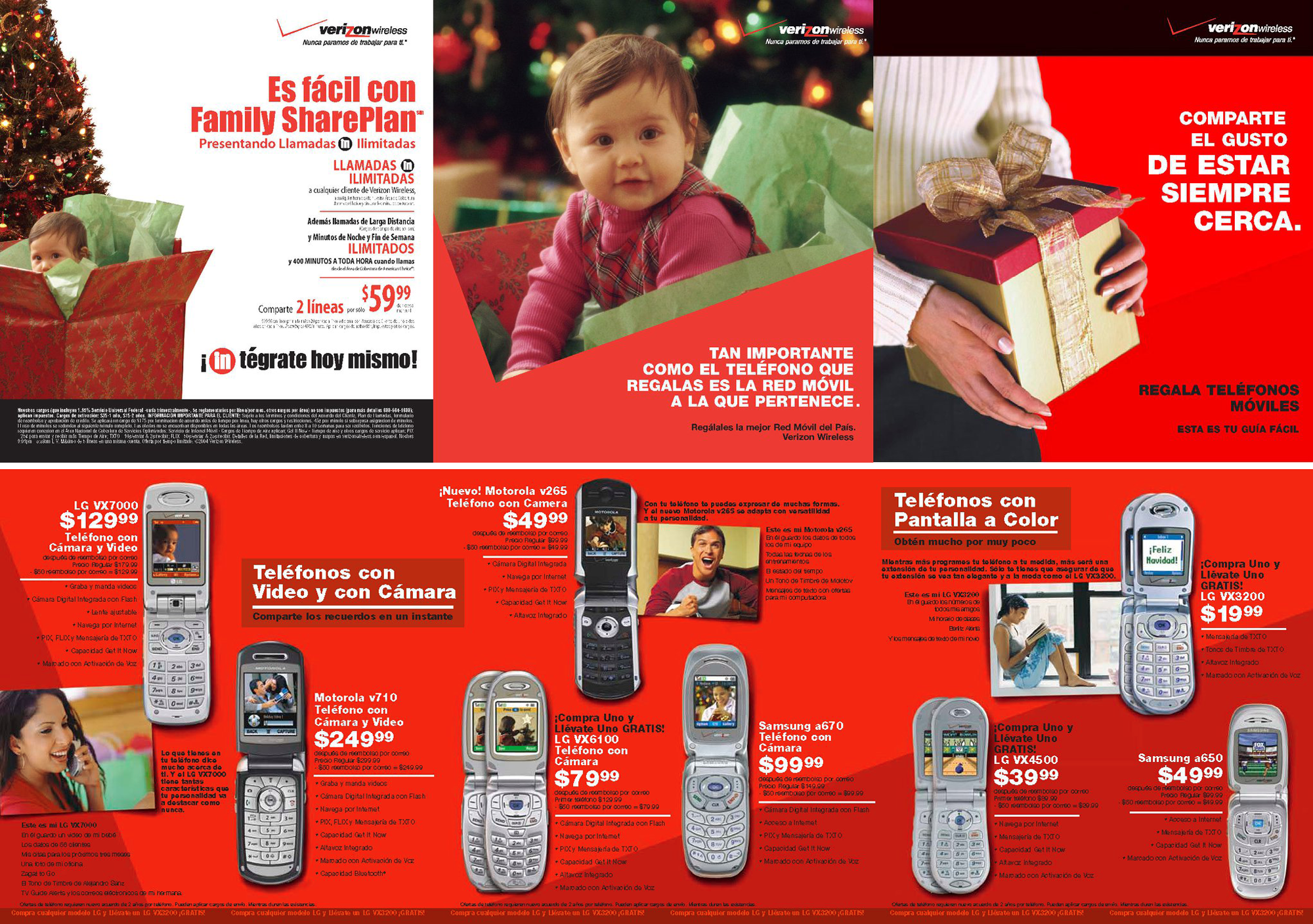 Verizon Christmas 3 Panel Booklet