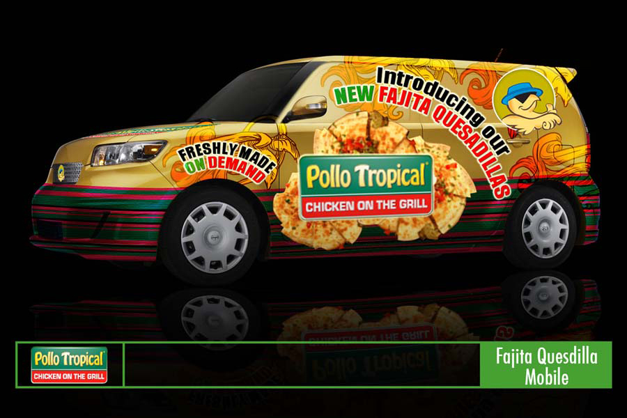 Pollo Tropical Vehicle Wrap