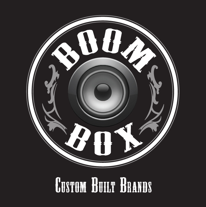 Boom Box Business Card Logo