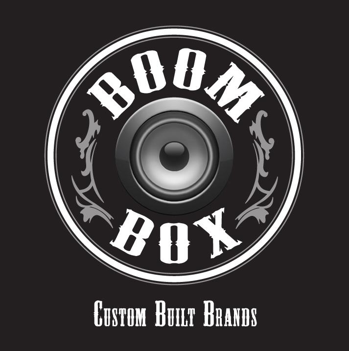 Boom Box Business Card Logo