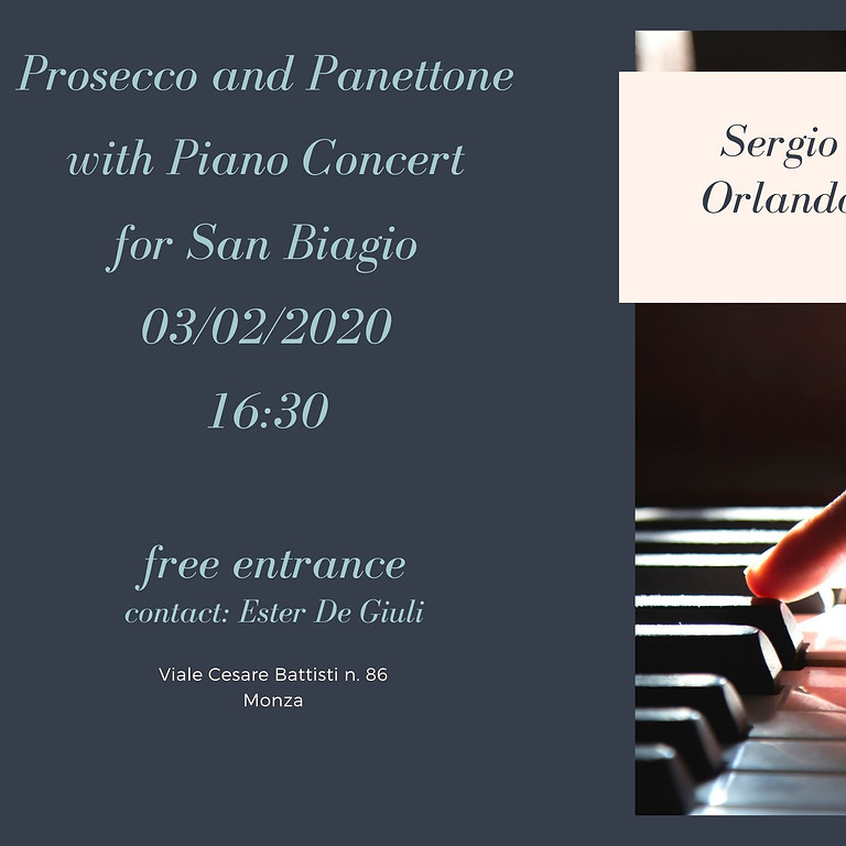 Jazz piano concert and panettone
