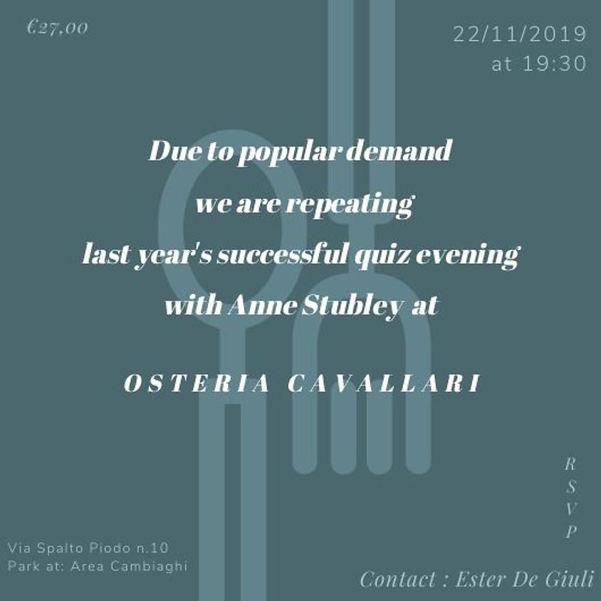 Quiz night at Osteria Cavallari