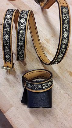 Bracelets cuir & galon