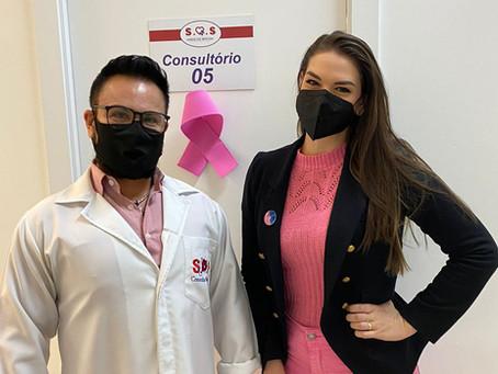 Brunna Colossi conversa com o Dr. Marcelo Machado sobre prevenção do Câncer de Mama e Colo Uterino