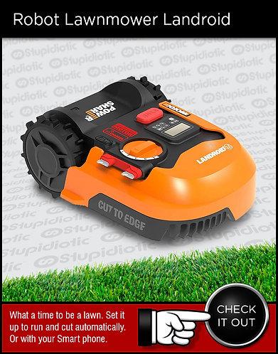 Worx Landroid Robotic Lawnmower grass yard