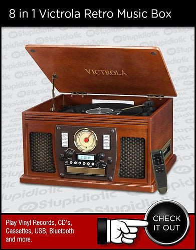 8 in 1 Victrola Retro Music Box