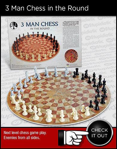 3 Man Chess Set