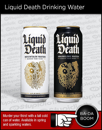 Liquid Death Drinking Water Can