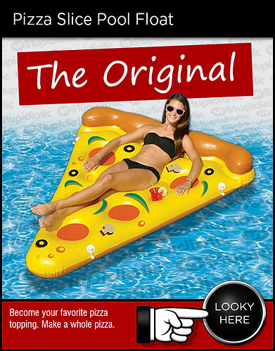 Inflatable pizza slice floating pool toy