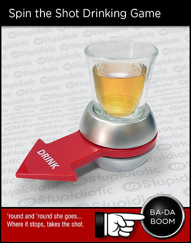 Russian Roulette spin arrow shot drinking game