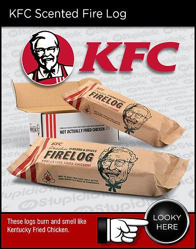 KFC  Chicken Scented Fire Log