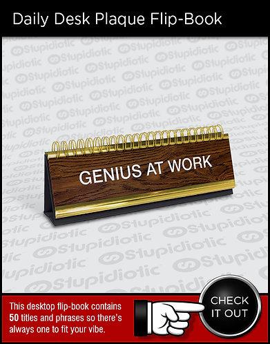 changeable Desktop plaque sign fun