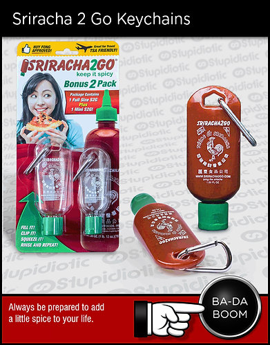 Sriracha 2 Go Keychains
