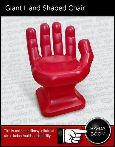 Giant large big plastic hand chair