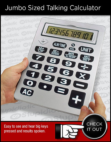oversized large jumbo talking calculator